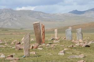 Hirschsteine in der Mongolischen Steppe